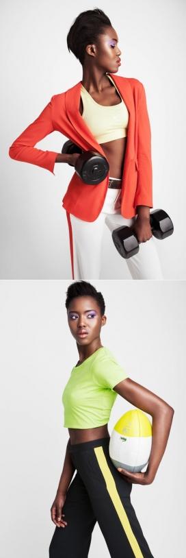 时尚美诱黑人女性运动秀