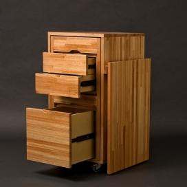 多功能转换的家具-可以做柜子也可以做桌子与储物柜