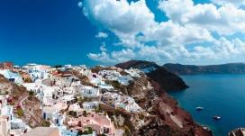 风景如画的海岛镇
