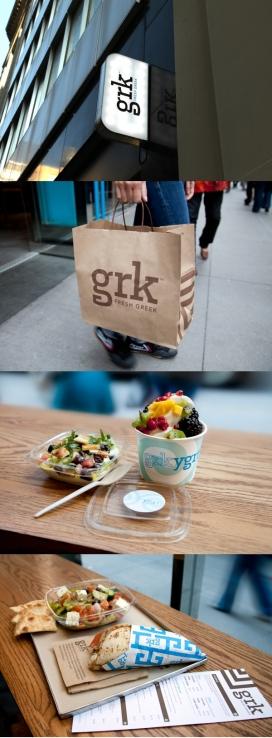 希腊快速休闲美食品牌餐厅GRK设计