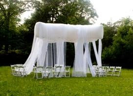 充气白色面纱浮顶休息亭庇护所