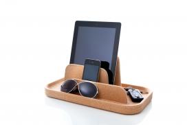 """软木""""岛""""-苹果电子设备软木托盘-可以存放你的钥匙,太阳镜,手机和钱包"""