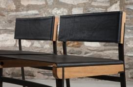 餐饮凳-绘图灵感来自桥梁索具设备和经典的椅