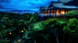 日本京都凉亭夜景