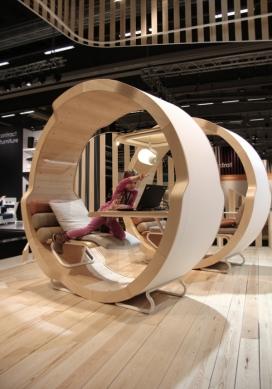 伦敦设计周-圆形摇篮办公空间