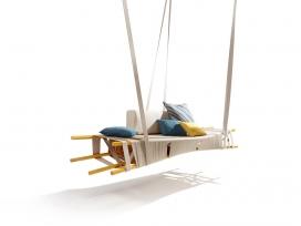 纺织品摇摆吊床-金属棒框架,类似秋千,法国设计师Lionel Doyen作品