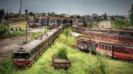 废弃的铁路站