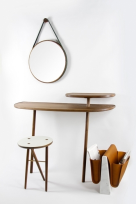2013伦敦设计节-英国设计品牌Noble & Wood展示了其首张收集的家具产品