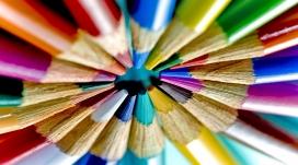 彩色铅笔圈