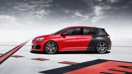 2014红黑相间的标致308R-SUV汽车正侧面壁纸