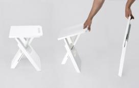 设计精巧的折叠凳-漆木家具,简约的设计