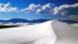 雪白色的沙漠