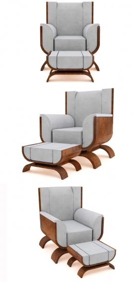 UULMA幼儿园家具-采用木制品,皮革,亚麻作为材料-反映了本世纪中叶现代风格的家具收藏。