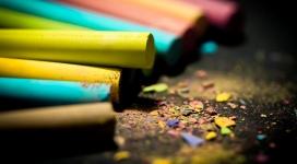 彩色粉笔壁纸