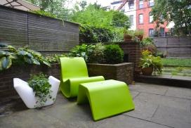 波浪形公园躺椅设计