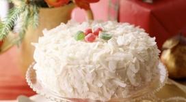 漂亮的白色蛋糕