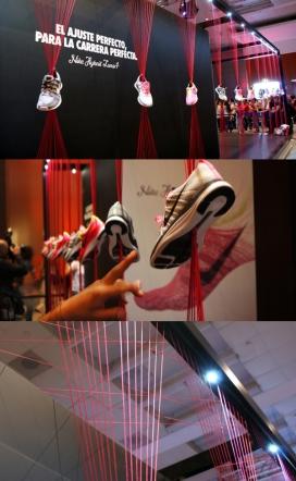 NIKE耐克Flyknit时尚针织线体验店-体验展台为NIKE Lunar1产品的推出在墨西哥
