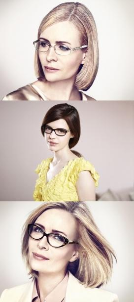 眼镜美女人像