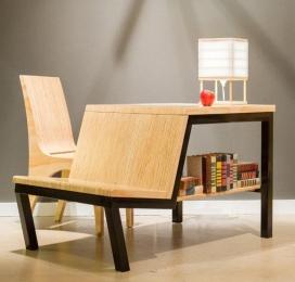 多功能台小空间餐桌-完美的多功能家具,尤其是对于那些狭小空间居住者,它可以像一个书桌,书架或休闲椅