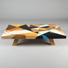 几何图形涂鸦咖啡桌-混合几何形状和鲜艳色彩图案,创造出独特的外观