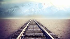 山地荒漠雾铁路公路