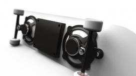 内置收音扬声器的滑板