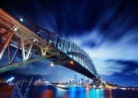 悉尼高架铁桥壁纸