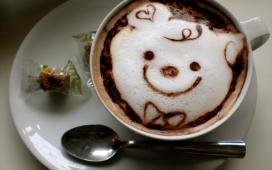 有趣咖啡的脸