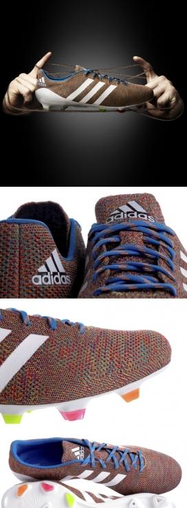 世界上第一只Adidas针织足球鞋