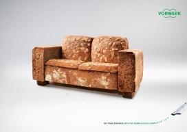创意饼干沙发-福维克基金会平面广告