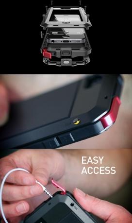 重新定义保护-LUNATIK TAKTIK iPhone手机外壳,高灵敏度的玻璃透镜显示