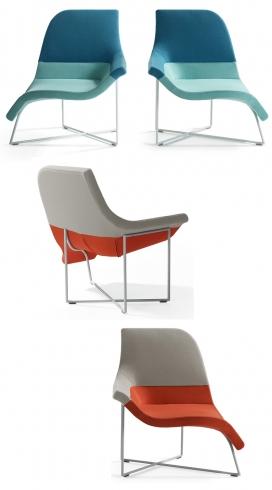 S形双子星椅-荷兰设计事务所UNStudio作品-椅子最大特色是允许其用户从直立坐在移动椅子腿上,这种形状的好处允许用户坐各种不同的位置。