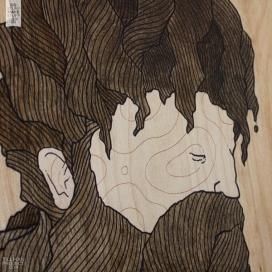 Wood Works I-树木年轮插画