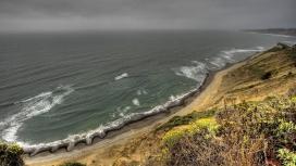 海岸线浪花壁纸