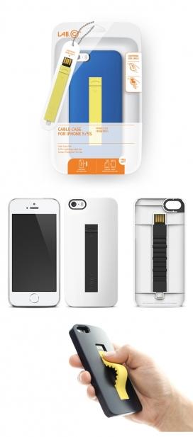 彩色喷涂聚氨酯涂料手机USB外接线-可以脱下壳体连接的电缆,也可以充电和传输文件