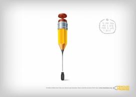 帮助孩子建立自己的未来学校-Pencils of Promise教育慈善组织公益平面广告