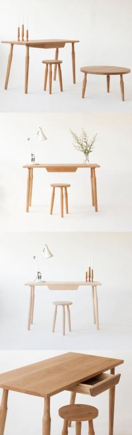 一个全新系列的家具-家具设计灵感来自现代主义,在即将举行的伦敦设计节展出,简洁的线条和简单的形式构成的集合影响,整体组合是干净,现代的,由橡木制成,提供一个温暖的感觉,可以在任何环境下使用
