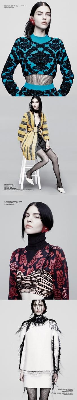 Bazaar芭莎中国2014年9月-大胆优雅的叛逆美诱时尚人像时装秀