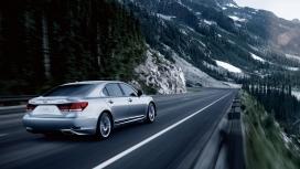 高清晰银色雷克萨斯-LS460l汽车壁纸