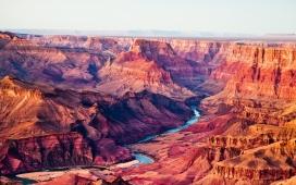 高清晰壮观的大峡谷河流壁纸
