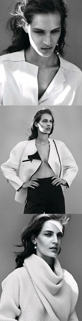 现代简约鲜明的艾玛黑白时装风暴