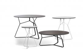 丰富多彩灵活不同高度和维度的家具集合-该系列包括餐桌,茶几