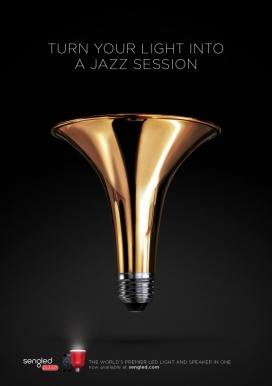 音乐灯泡-Sengled照明设备平面设计