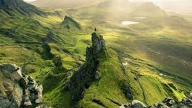 高清晰苏格兰斯凯峰小岛