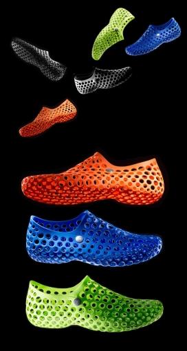 NIKE耐克五彩镂空3D打印鞋