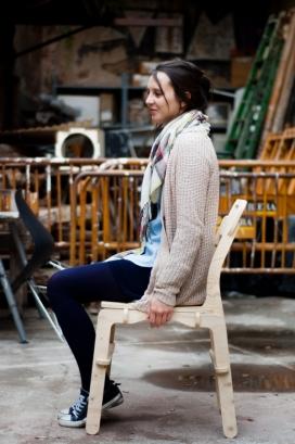 CLIP椅-采用数控切割胶合板技术,无需胶水或固定螺栓,便可组装