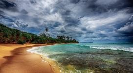 美丽的热带海岸海滩