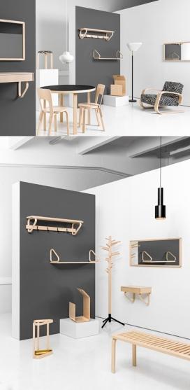 芬兰Artek品牌桦木家具-荷兰Alvar Aalto设计师作品