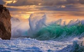 飓风海浪来临