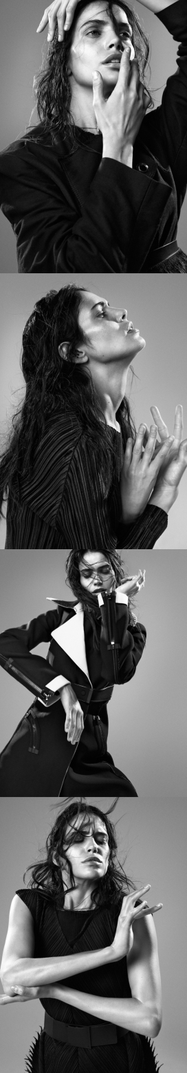 阿曼达-Dansk杂志丹麦-摄影师捕捉戏剧性的黑白色激烈的姿态